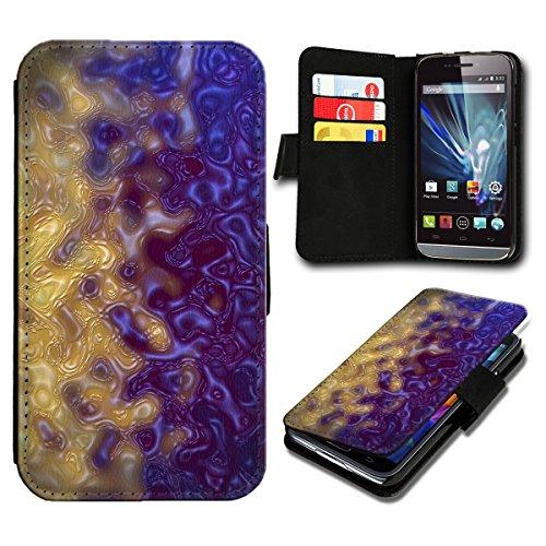 Book Style Huawei Ascend Y300 Premium PU-Leder Tasche Flip Brieftasche Handy Hülle mit Kartenfächer für Huawei Ascend Y300 - Design Flip SV91