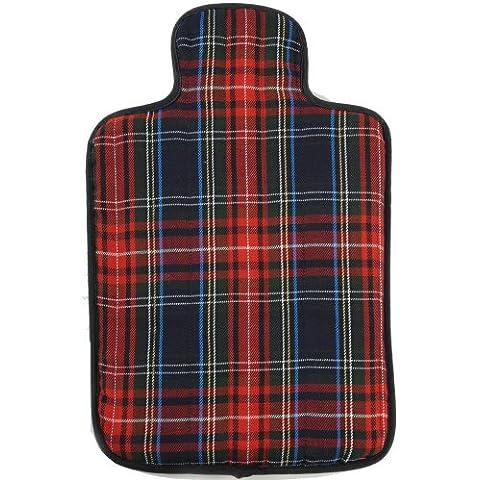 Hotties - Bolsa de agua caliente apta para microondas, diseño escocés de cuadros, color azul