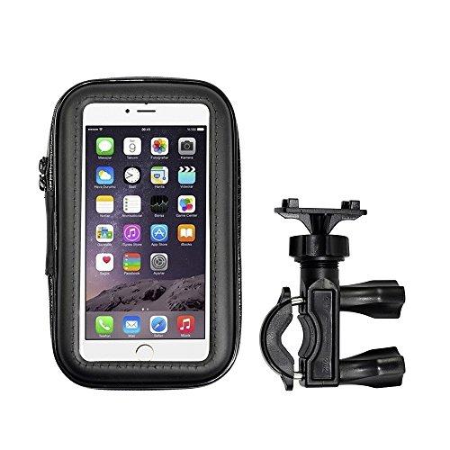 XZero X-C1586K Universal Fahrrad Handyhalterung mit wasserdichter Schutzhülle für Smartphone, Handy, Navi, GPS (6,3 Zoll)