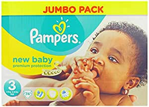 Pampers New Baby Nappies 2014 - Size 3 (74 Nappies)