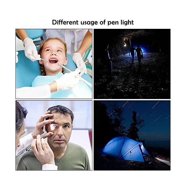 Teepao - Linterna de bolsillo recargable por USB para enfermería, estudiantes y médicos (2 unidades) 16