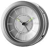 ATRIUM Designwecker rund analog grau ohne Ticken, mit Licht und Snooze A106-4