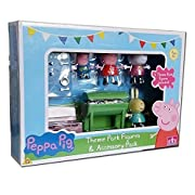 Join Peppa Pig and friends as they have a lovely summer BBQ. A great way to spend the perfect summer's day, the accessory pack includes 4 articulated figures, BBQ, table and bench.