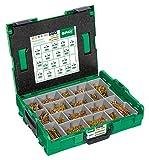 Spax–Montaggio valigia, L-Boxx, grande, yellox A2L Inserti Star Plus, testa svasata, 17dimensioni, 2930pezzi, inclusi SPAX, T, 5000009164019
