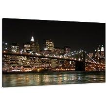 Visario Leinwandbilder 5008 Bild auf Leinwand New York, 120 x 80 cm