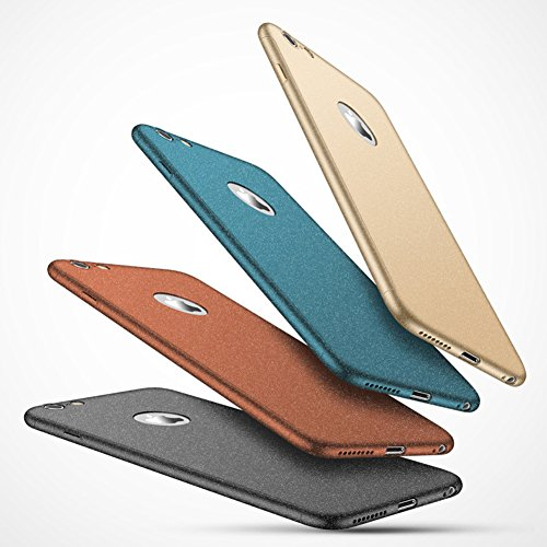 Coque iPhone 7 Plus, iPhone 7 Plus Coque 360 Degres, SainCat Ultra Slim Full Protection 360 Coque Cover pour iPhone 7 Plus, Coque en Plastique 360 Degres Avant et Arriere Full Body Ultra Resistante Fu Brown