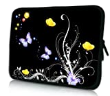 Luxburg® Design Laptoptasche Notebooktasche Tablet PC eBook Reader Tasche bis 8,1 Zoll, Motiv: Schmetterlinge in der Nacht