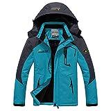 BaronHong Warm Velvet Hommes Montagne Veste De Ski Imperméable Veste Coupe-Vent Imperméable (Bleu, 6XL)