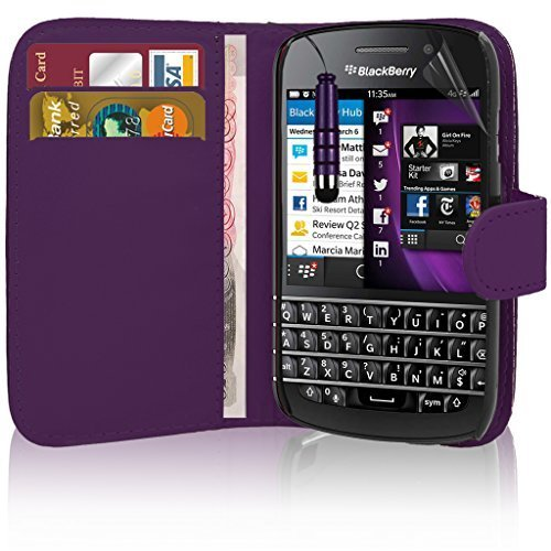 blackberry-classic-premium-leather-book-wallet-case-cover-pouch-screen-protector-with-polishing-clot