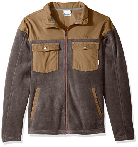 Columbia Men's Big and Tall Cascades Explorer Full Zip Fleece Jacket, Buffalo, Trail, Rusty, Medium
