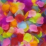Icecode 1000 Stück Seiden-Rosenblätter Hochzeit Party Blumen Blütenblätter Dekoration Künstliche Blütenblätter bunt