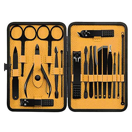 ZREAL 18Pcs Nagelknipser Set mit Aufbewahrungskoffer Edelstahl Maniküre Pediküre Grooming Tools Kit