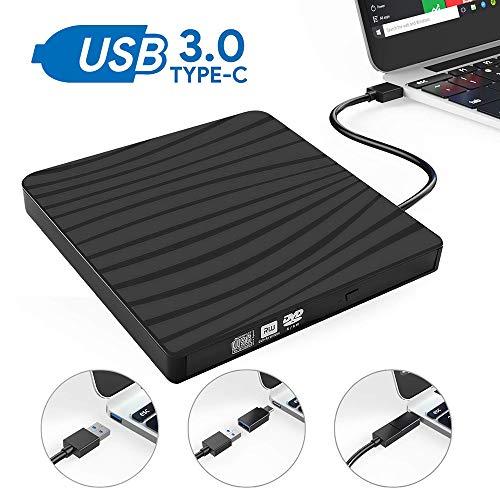 Yehyep Externes DVD-Laufwerk, USB 3.0 DVD Re-Writer Burner Superdrive Mit High Speed   Data/Hohe Qualität Und Langlebiger Für Windows XP/Windows 7 / MAC OS/Fenster-8/10-Fenster