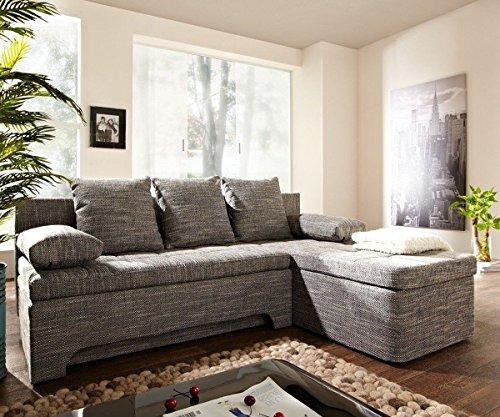Couch Juline Grau 200x155 mit Schlaffunktion Ottomane variabel Ecksofa - 6