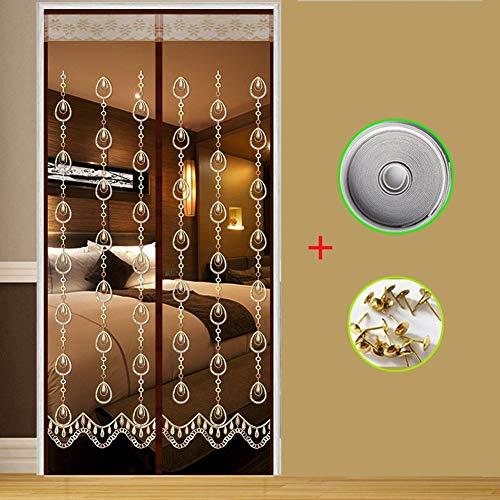 Tenda zanzariera magnetica finestra 80x200~150x220 cm per porta con calamita moschiera per porte di soggiorno camera da letto casa,tearsofangels,120 * 210cm