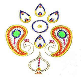 amba handicraft Rangoli/Wohnkultur/Diwali/Geschenk für Haus/Innenraum handgefertigte/Bodenaufkleber/Wandaufkleber/Wanddekoration/Bodendekoration/Neujahr Geschenk/Party Rangoli 003