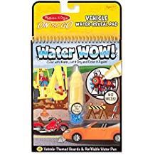 Melissa & Doug Water Wow Coloring Book Vehicles,Multicolor