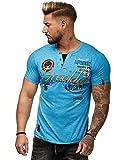 Herren Vintage T-Shirt Basic Shirt Round Brooklyn M-XXL Rundhals