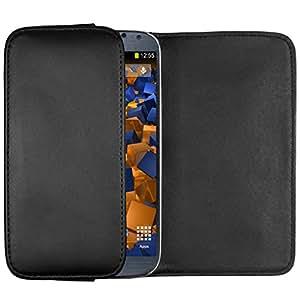 mumbi Quer Tasche für Samsung Galaxy S4 Hülle (horizontal mit Gürtelschlaufe + Lasche und Magnetverschluss)