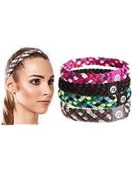 Cintas de pelo Sternitz - Trenzadas - Antiresbalante - Perfectas para Yoga - Pilates - Running. Headbands (Gris)