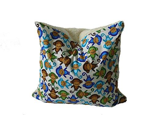 Preisvergleich Produktbild Fitzibiz Kinderkissenbezug Jacob, Öko-Teddy, Affendruck, weiß, 50x50cm auch in anderen Größen verfügbar