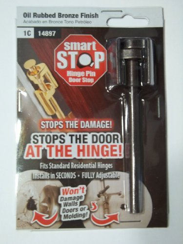 Smart Stop Hinge Pin Door Stop, Bronze Finish by Smart Stop - Bolt Stop