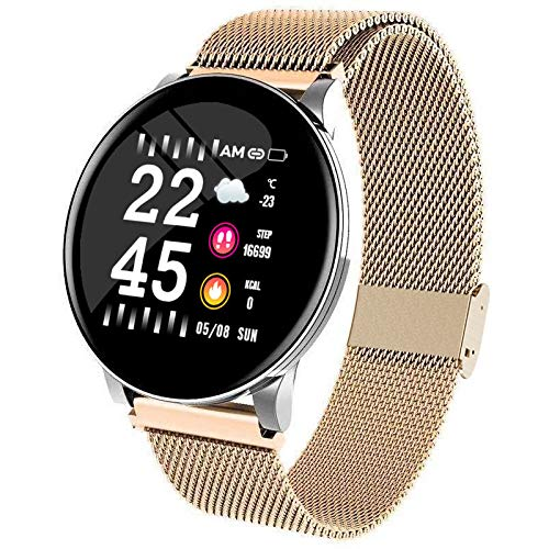 OPTA Steel SB-147 Nausikaa Bluetooth Heart Rate + Sleep Monitor Compatible with Android/iOS Smart Phones for UnisexMedium (Gold)
