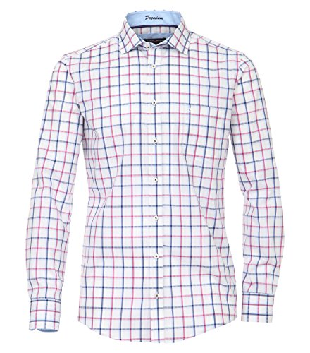 Michaelax-Fashion-Trade Camicia classiche - Basic - Classico - Maniche lunghe - Uomo Pflaume (950)