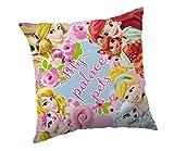 Jerry Fabrics Dekorative Wurfkissen für Kinder,Disney Prinzessin Charakterkissen, Polyester, Mehrfarbig, 40 x 40 x 5 cm