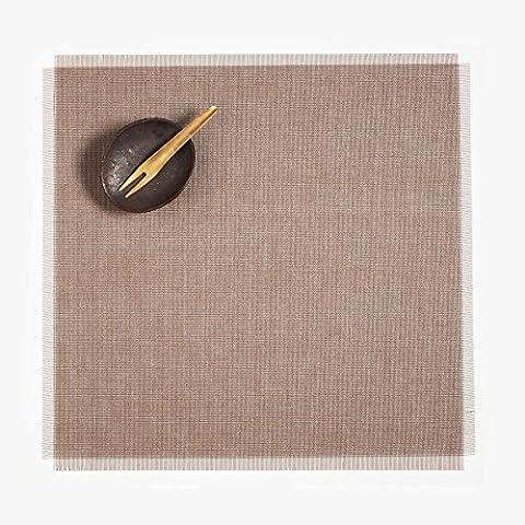 Metallic Fringe - Dessous de plat 37x39cm Pièce unique - sable/4 unités