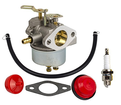 OuyFilters Carburetor Carb Kit with Fuel Filter Primer Bulb Fuel Line for Tecumseh HM100 HMSK100 HMSK90 Snow Blower Replace 632370 632110