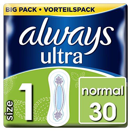 Always Ultra Normal Binden, Größe:1, 1er Pack (1 x 30Stück)