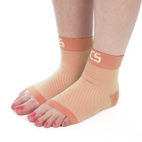 Curative ScienceTM Kompressions-Socken, gegen Plantarfasziitis | Medizinische Kompression für Frauen und Herren, reduziert Fußschmerzen, bietet Unterstützung und fördert die Durchblutung, CS, nude, M