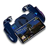 Lovearn Mobile Game Controller Gamepad Joystick Controller Handle Holder Hand Grip Sensitive and Buttons for Pubg/Knife Target Shoot Out/Principles of Survival Support Android and Ios (mit Lüfter)