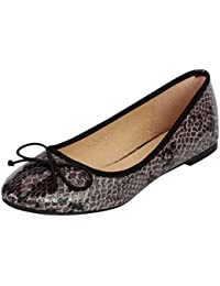 13745351c245 SFO Damen Flats Shoes Damen Schlange Ballerinas Dolly Schlupfschuhe Pumpen
