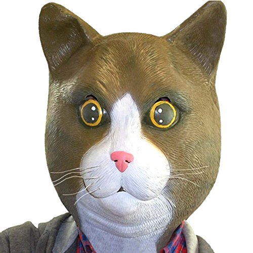 Krallen Kostüm Katze - BigMouth Inc Buster Brown Die Katze Latex Kostüm Maske