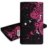 Stilbag Tasche 'MIKA' für Samsung Galaxy S5 - Design: Pink Loops