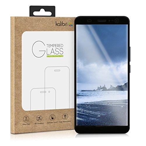 kalibri-Echtglas-Displayschutz-fr-HTC-U11-U11-Plus-3D-Schutzglas-Full-Cover-Screen-Protector-mit-Rahmen-Glas-Folie-auch-fr-gewlbtes-Display-in-Schwarz
