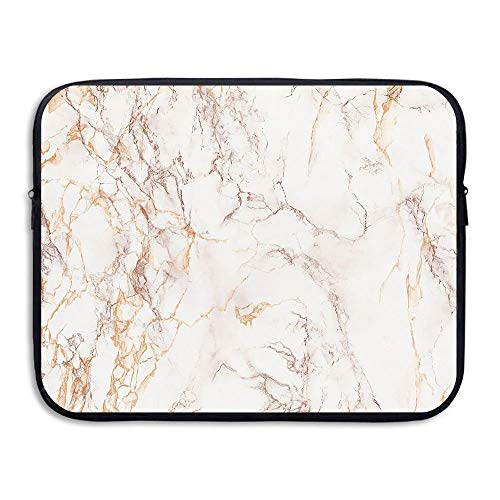ASKSWF Computertasche Business Briefcase Sleeve Gold Marble Pattern Laptop Sleeve Case Cover Handbag for 15 Inch MacBook Pro/MacBook Air/ASUS/Dell/Lenovo/Hp/Samsung/Sony (Hp Sony)