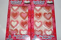 Gummy Treat Decorations Valentine's Day Red Pink Hearts (Red Hearts)