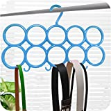 #4: Berry Multifunction Unbreakable Plastic Scarf 10 Loop Plastic Scarf Holder Hanger (Blue) (Set of 1)
