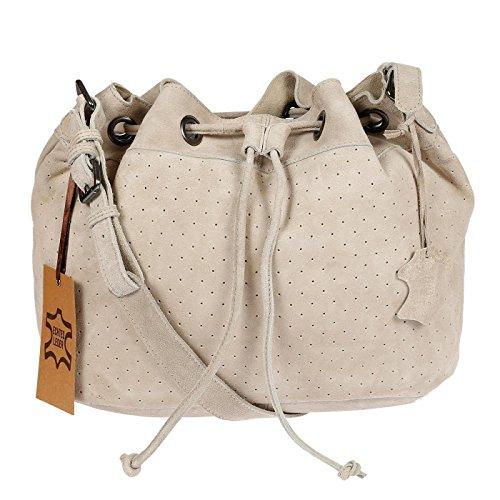 hochwertige Schultertasche Beuteltasche aus butterweichem Leder ()