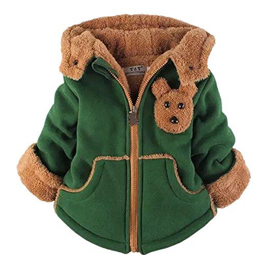 Yancorp Baby Winter Mantel Mädchen Parka Jacke Dicke Wolle Innen Kinder Warm Winter Mädchen Jungen Winter Top (6-Jahre Alt, Grün) (Carters Camo)