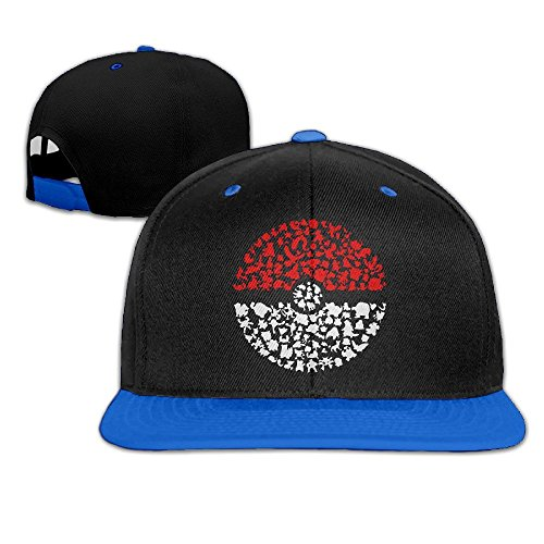 Imagen de ogbcom bolsillo monster pokemon snapback ajustable hip hop  de béisbol/sombrero para unisex