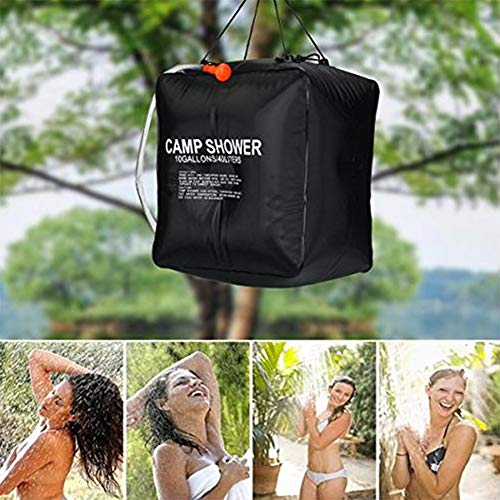 FDSEP Campingdusche Solardusche Summer Shower 40L Outdoor Campingzubehör Wilde Duschtasche Solarduschtasche mit abnehmbarem Schlauch und Duschkopf