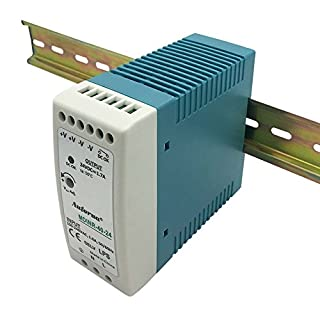 Auforua® Din-Rail Power Supply 40W 24VDC 1.7A, Constant Voltage Din Rail Transformer for Automation Control Systems, Ggigabit Ethernet Poe Switch, PLC, Touch Screen and CNC Machine