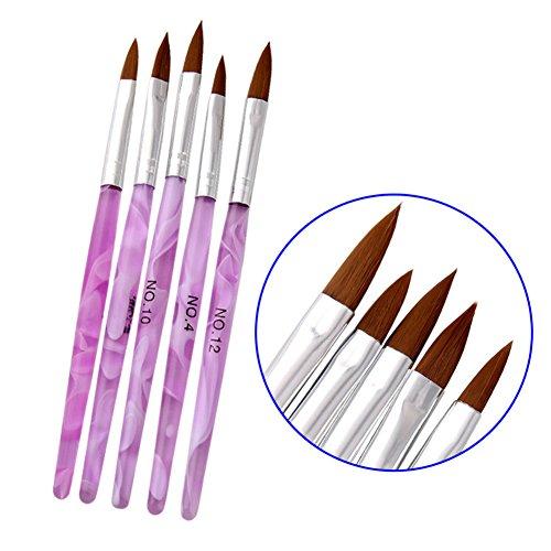 Rokoo 5 Teile / satz Nail art Pinsel Stifte UV Gel Polnischen Liner Nails Malerei Zeichnung Pinsel DIY Maniküre Werkzeug Kit -