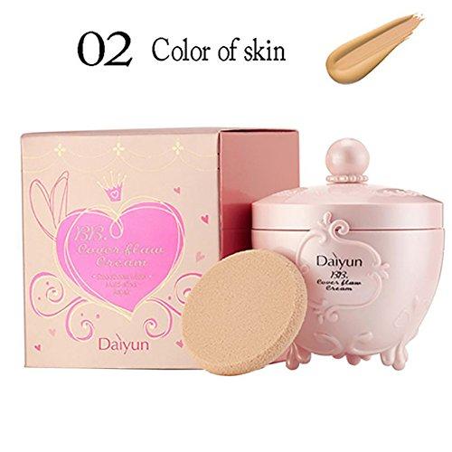 KAYI BB Concealer Creme - Makeup Base Flawless Poren Beruhigende Abdeckung Creme - Dunkle Haut Farbe (Perfekte Abdeckung Bb Creme)