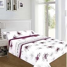 ForenTex - Juegos de sábanas, (AL-4020), Pinceladas Granate, cama 135 cm, con tacto seda de sedalina, nacarina, de 250 gr/m2, ultra suaves, exclusivas.