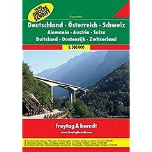 Freytag Berndt Autoatlanten, Deutschland - Österreich - Schweiz Superatlas, Spiralbindung  Extra Große Schrift  - Maßstab 1:300 000